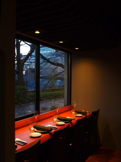 レストラン、内装デザイン、中目黒、一級建築士事務所、建築家、カウンター、イタリアン、デート