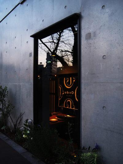 レストラン、内装デザイン、中目黒、一級建築士事務所、建築家、カウンター、イタリアン、デート、暖簾、黒い障子