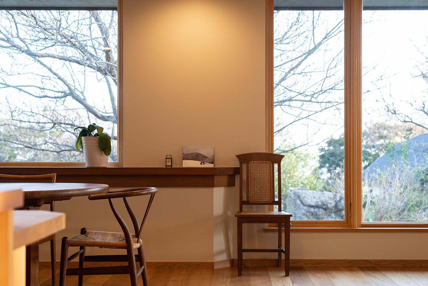 平屋、窓、木製窓、断熱、設計事務所、建築家、大磯、神奈川