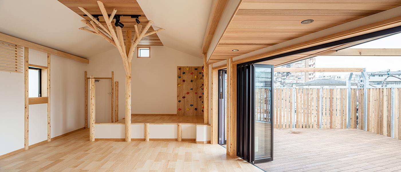 保育園、東京、品川区、戸越公園、一級建築士事務所、建築家、木育、もくいく、アスパイーエックス、さんさん森の保育園、分園、N&C